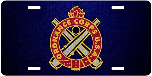 ExpressItBest Premium Aluminum License Plate - U.S. Army Ordnance Corps, regimental insignia