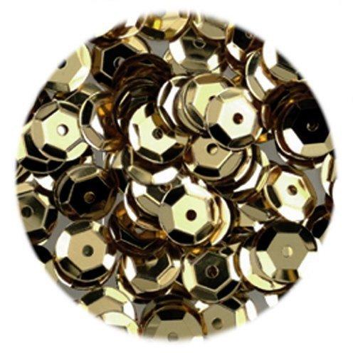 efco - Lustrini concavi, rotondi, dorati, 6 mm, 40 g, confezione da 4000 pezzi 1026895