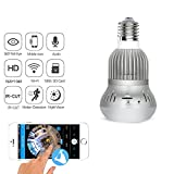 360 Degree Wifi Camera Bulb Light Panoramic 1080P HD Wireless IP Webcam Motion Sensor Home Security For Iphone Android Two-Way Call