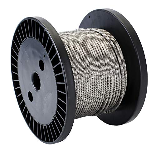 Zoostliss 100Ft Stainless Steel Aircraft Wire Rope 1/8'' for Deck Cable Railing Kit, 7x7 T316 Marin Grade by Zoostliss (Image #1)