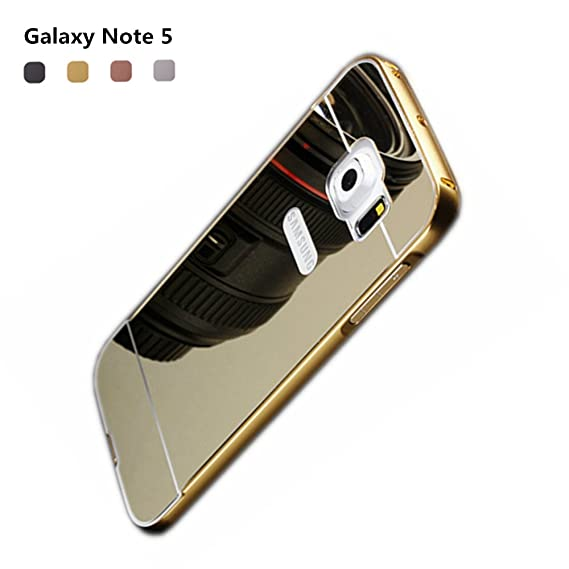 Amazon.com  Note 5 Gold Mirror Case 11d3a8087b
