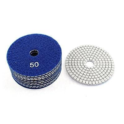 uxcell 50 Grit 100mm Dia Granite Marble Concrete Diamond Polishing Pads 10pcs