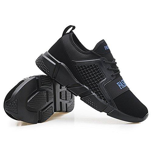 Blue Uomo Antiurto e And da Rete Black Traspiranti da Atletica da Sneakers Corsa da Le Sono Traspiranti Cricket Leggera a Sneaker e Scarpe fIqBawn