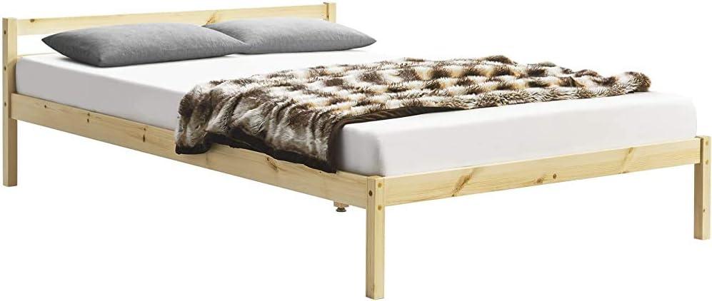 Camera da letto in stile moderno in legno doppio telaio del letto telaio del letto,White-90cm
