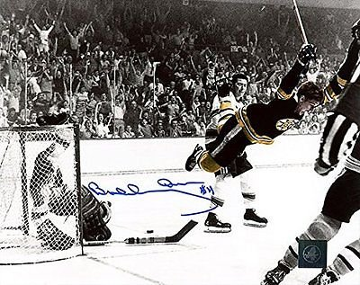 Bobby Orr Boston Bruins Signed Autographed Flying Goal 16x20 Photo