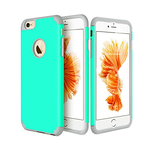Clip Blue Faceplate Belt (iEugen Dual Layer Shockproof Case for iPhone 7/8. Reinforced Corner Slim Fit Anti-Scratch Protective Cover, 2 in 1 Hybrid Heavy Duty Hard PC & Soft rubber TPU Case for iPhone 8/7 (teal))