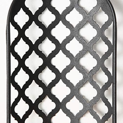 Candelabro de Pared Metal, 2 Unidades, 41 cm Color Negro Home Collection