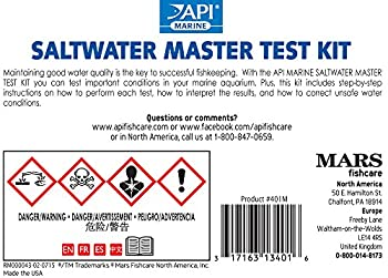 Api Saltwater Master Test Kit 550-test Saltwater Aquarium Water Test Kit 1