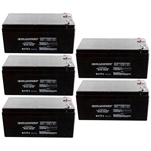 5pc 12V 3.4Ah SLA Battery EB1234 for UB1234, D5740, PS1230 Many Uses Alarm System, fire Alarm, Burglar Alarm, UPS Backup Battery, Smoke Detector, exit Signs, inverters, Lighting, Signage, Toys