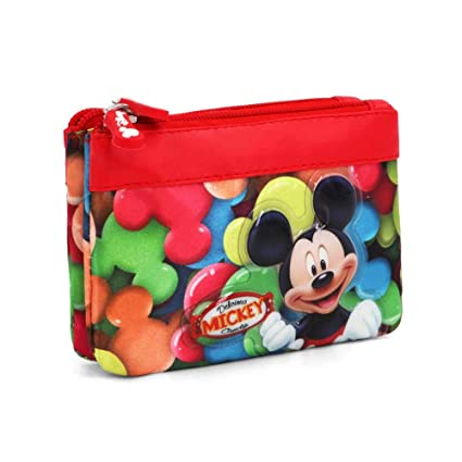 Karactermania 36198 Mickey Mouse Delicious Monederos, 14 cm, Rojo