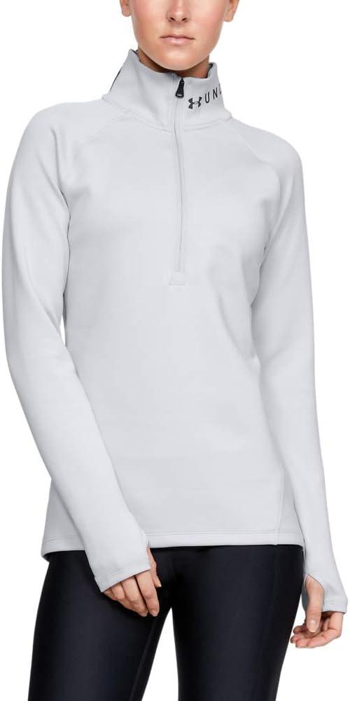 Under Armour Coldgear Armour 1//2 Zip T-Shirt Manches Longues Femme