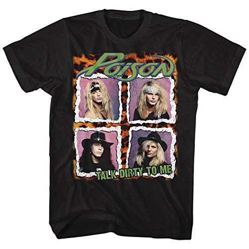 Poison - Talk Dirty To Me Four Pix - Adult T-Shirt - Small