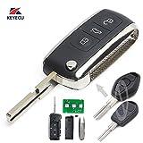 Keyecu Modified Bentley Style Folding Remote Key 3 Button for BMW ID44 Chip HU58 (315MHZ)