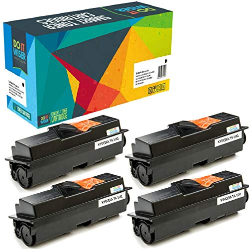Do it Wiser Compatible Toner Cartridge Replacement for TK-1142 TK1142 Kyocera ECOSYS M2535dn M2035dn FS-1135mfp FS-1035mfp (7,200 Pages) 4-Pack