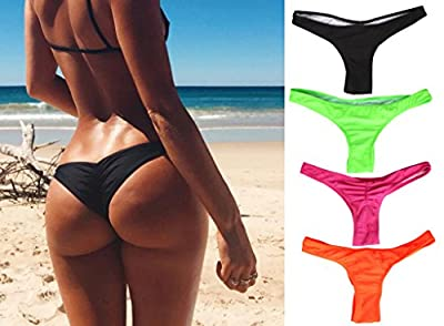 Focussexy Women's 2016 Hot Summer Beachwear Bikini Bottom Thong Swimwear