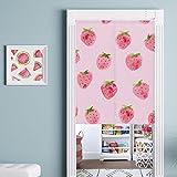 Cheap dream_home Summer Fruits Design Japanese Noren – Strawberry Style Kids Room/Doorway Curtain 31 x 35 Inch
