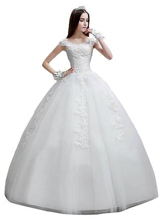 6fe5f7771 vimans Women s 2016 Elegant Long Scoop Lace Beaded Wedding Prom ...