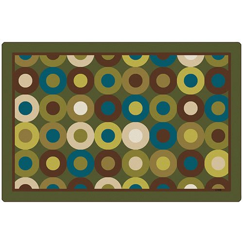 Carpets for Kids 13726 Calming Circles Nature's Colors Kids Rug Size: Oval 6' x 9' 6' x 9' , 6' x 9' , Green