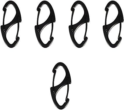 """3 x 3/"""" D Carabiner Clip Snap Spring Clasp Hook Keyring Camping Carabina"""