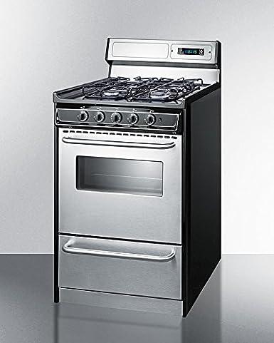 Amazon.com: Summit TTM13027BKSW Kitchen Cooking Range, Stainless ...