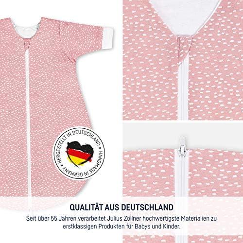 Julius Zöllner 9022669250 Gigoteuse d'hiver en jersey Tiny Squares Blush Rose Taille 86