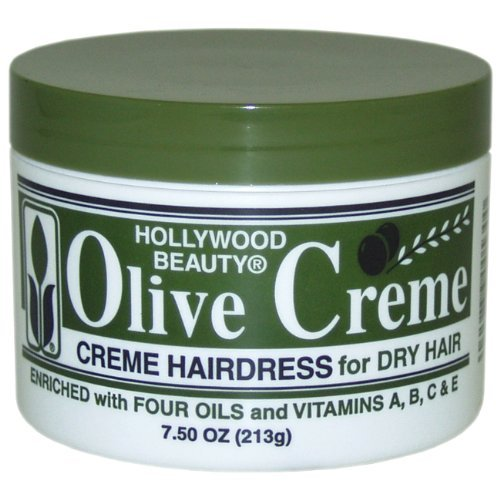 Hollywood Beauty Olive Creme Hair dress for Dry Hair - 7.5 oz, (Pack of 5)