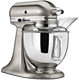 KitchenAid KSM152PSNK 5-Qt. Custom Metallic Series with Pouring Shield - Brushed Nickel