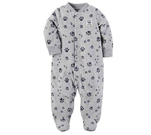 - Carter's Baby Boys' Fleece Zip up Paw Print Sleep & Play 3 Months