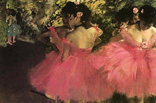 Edgar Degas Dancers in Pink Art Print Poster 36x24 inch