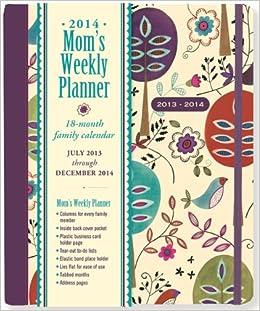 2015 folk art birds moms weekly planner 18 month calendar family calendar diary