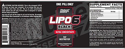 Nutrex Research Lipo 6 Black Ultra Concentrate Supplement, 60 Count