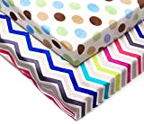 Kenley Pack n Play Playard Sheet Set - 2 Fitted Sheets for Playpen Portable Crib Mini Travel Play Yard - Waterproof Soft Minky Fabric Protects Mattress - Nursery Bedding for Baby Toddler Girl or Boy Image