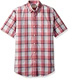 Dockers Men's Short Sleeve Button Down Comfort Flex Shirt, Desert Rose Plaid Small
