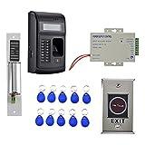 Baosity Premium 1000 Users Fingerprints + 10 Pcs Keyfobs RFID Card Reader Door Access Control Security Systems