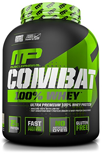 MusclePharm Combat 100% Whey Protein Powder, Vanilla, 5 Pound (Whey Protein Powder Shake)