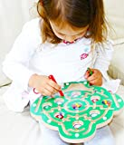 Toys of Wood Oxford Wooden Magnetic Labyrinth Fruit Tree Counting Game - Magnetic Labyrinth Maze for 3 years old
