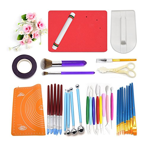 - AK ART KITCHENWARE Gum Paste Flower Tools 1 Foam Pad 8 Modelling Tools 12 Pastry Brushes 1 Rolling Pin 1 Carving Knife 1 Measure Dough mat 1 Cake Smoother 4 Ball Tools 5 Sculpture Tools 1 Floral Tape