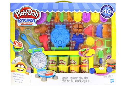 Play-Doh Kitchen Creations Ultimate Barbecue Set - Create & Make Meals with Kitchen Tools - 40+Piece & 10 Cans of