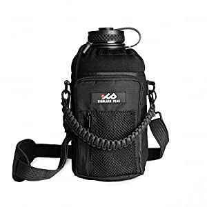 64 oz Sleeve / Carrier with Paracord Survival Handle by Highland Peak - The Ultimate Protective Bottle Holder - Fits Hydro Flask and Similar Bottles