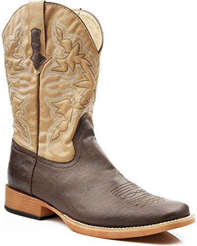 Roper Men's Square Toe Cowboy Boot Brown 12 D - Medium