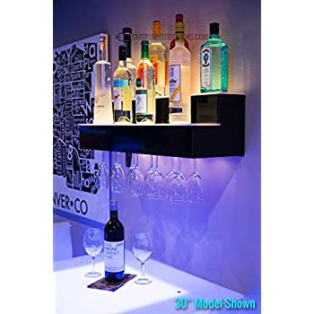 Amazon Com 24 Quot 2 Tier Wall Mounted Liquor Display Bar