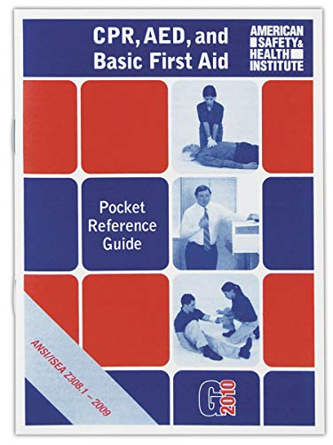American Safety Health Institute FAGUIDE 37-Page First Aid Guide, Standard, Red/White/Blue (American Safety And Health Institute First Aid)