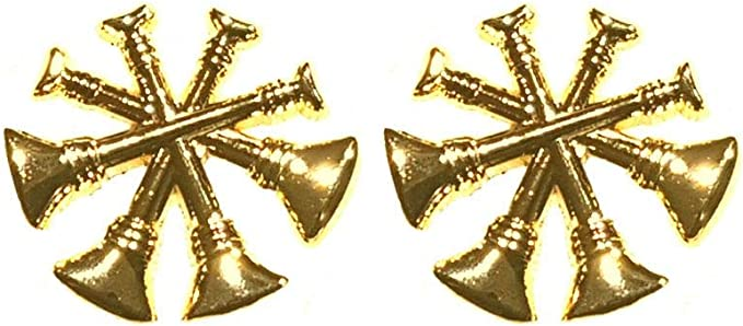 """4 Bugles Fire Deputy//Assistant Chief 1/"""" GOLD ON MIDNIGHT NAVY Collar 2 Patches"""