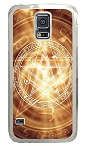 With Pentagram Clear Hard Case Cover Skin For Samsung Galaxy S5 I9600