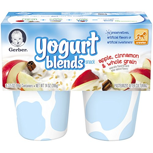 Gerber Yogurt Blends Snack, Apple Cinnamon, 14-Ounce