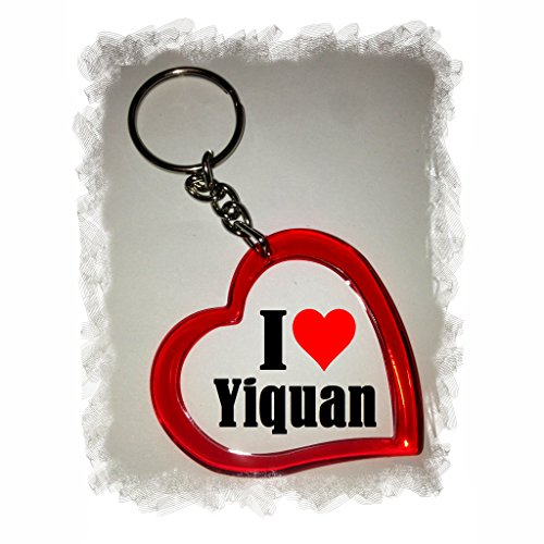 "Exclusive Gift Idea: Heart Keyring ""I Love Yiquan"", a Great gift that comes from the Heart - Backpack pendant - love pendant - Keychains- Keyring- Christmas Gift"