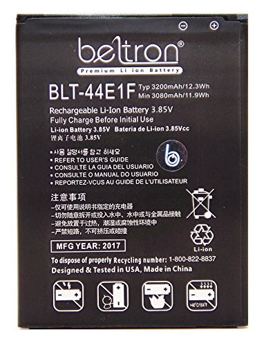 New 3200 mAh BELTRON Replacement Battery for LG V20
