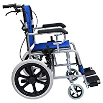 Portable Folding Travel Wheelchair, Hand-held Ultra-Light Transport Wheelchair, Disabled Scooter, Suitable for The Elderly and Children