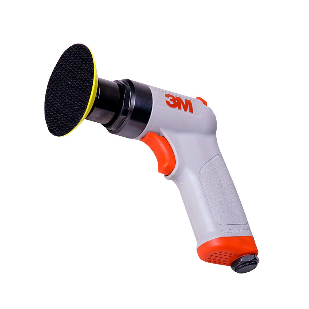 3M Random Orbital Sander Compact Auto Body Sander Pistol Grip 3 x 1 8 Diam. Orbit Pneumatic Hook and Loop Pad