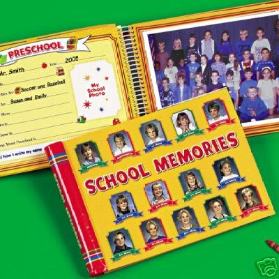 School Memories Album Yellow 10 Pocketfuls Book Preschool-12 Grade by new seasons